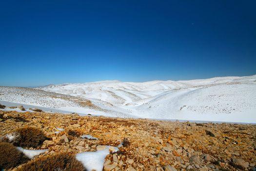 Snow landscape.beautiful destination for skiing