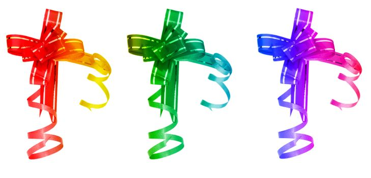 Three different bows