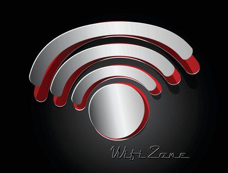 sticker label paper wifi, rss paper design