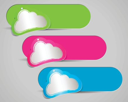 Cloud sticker paper design with space for your text