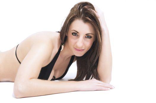 Seductive woman in a bikini