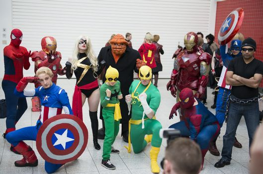 Marvel cosplayers