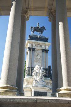 monument in El Retiro at Madrid