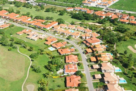 Residential district aerial view