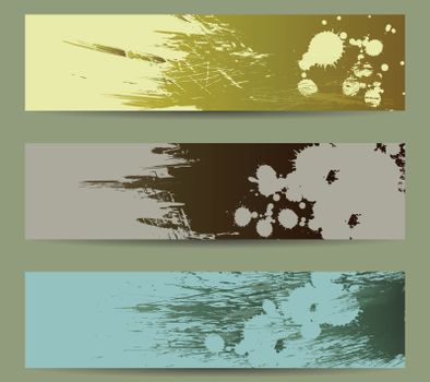 banner brush stroke hand painted background