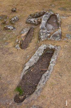 Necropolis of Cuyacabras, Quitanar de la Sierra, Burgos, Spain