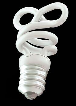 infinity or eternity symbol light bulb isolated