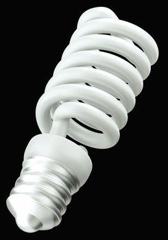 Energy efficient technology: light bulb isolated