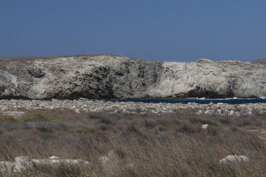 cliff in delos greece