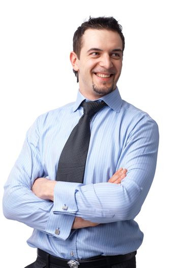 Portrait of successful businessman, smiling  and looking away