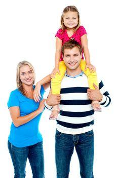 Happy family. Studio shot