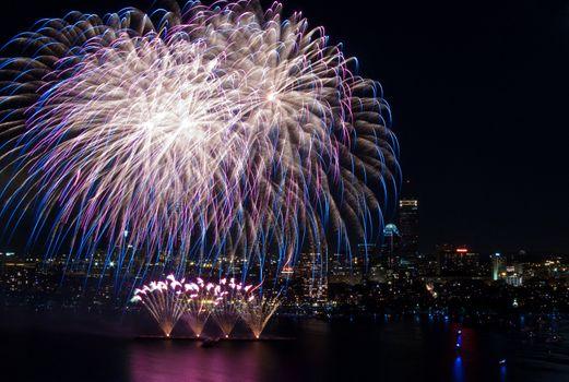 The 4th of July celebration in Boston, Massachusetts
