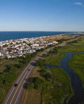 Aerial view of Massachusetts coast