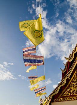 Buddhist and Thailand flag3