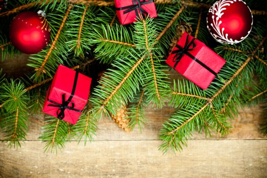 fir tree with decoration