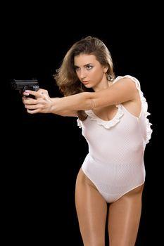 Dangerous girl in bodysuit