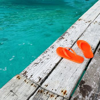 Sandals at jetty