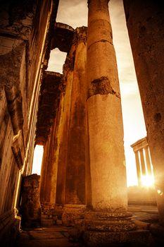 Jupiter's temple  Baalbek, Lebanon