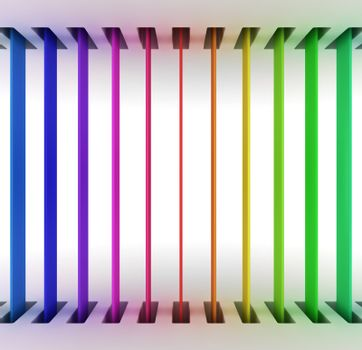 Colorful stripes from up to down