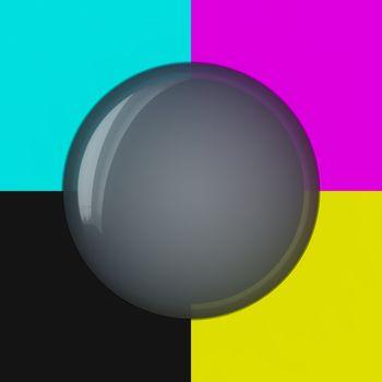 Grey bubble on the cmyk background