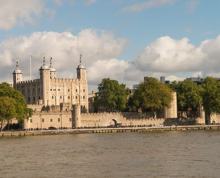 City of London with Thames river in Autumn