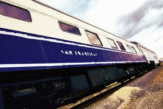 san Francisco train vintage