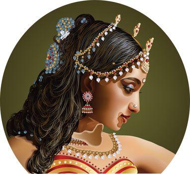 Vector of a beautiful Indian women