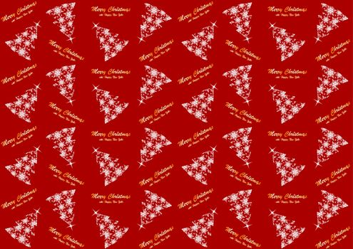 Seamless pattern with Christmas tree for the new year and Christmas