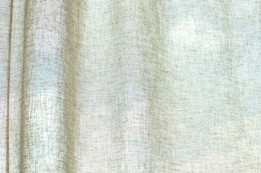 Detail of an interior curtain on translucent sky