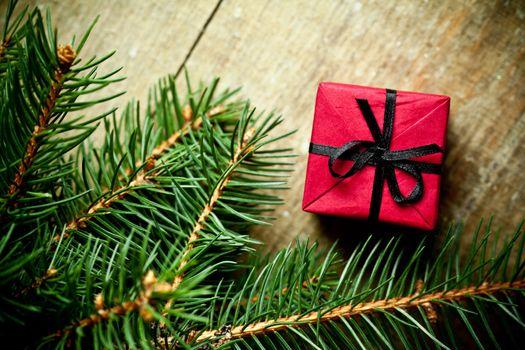 christmas decoration and fir tree