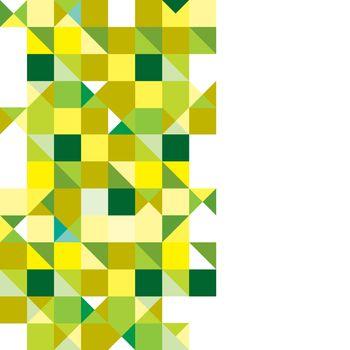 Triangle green tricolour