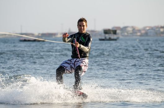 Sergio Lopes during the wakeboard demo