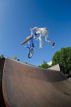 BMX Bike Stunt tail whip