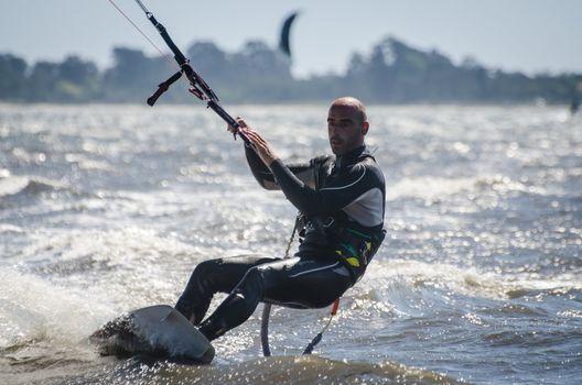 Rui Duarte Silva in the Portuguese National Kitesurf Championshi