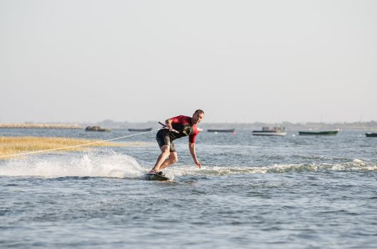 Joao Mendes  during the wakeboard demo