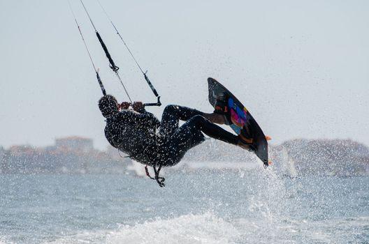 Unidentified rider in the 3rd Kiteloop Contest Aveiro 2012