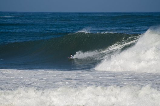Surfer during the the National Open Bodyboard Championship