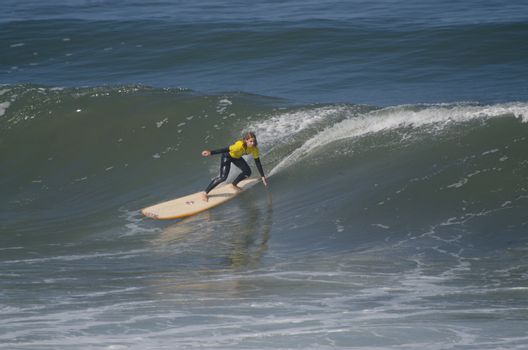 Ines Martins during the 1st stage of National Longboard Champion
