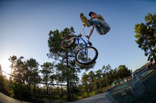 BMX Bike Stunt can-can