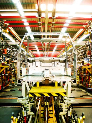 Cab body welding assembly line3