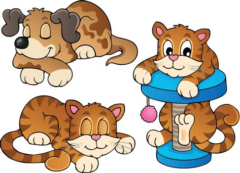Various pets collection 1 - vector illustration.