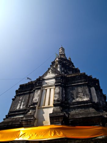 Old stupa in Traditional Thai style which is in Wat Suantan