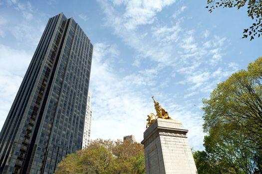 Central Park Gold Statue