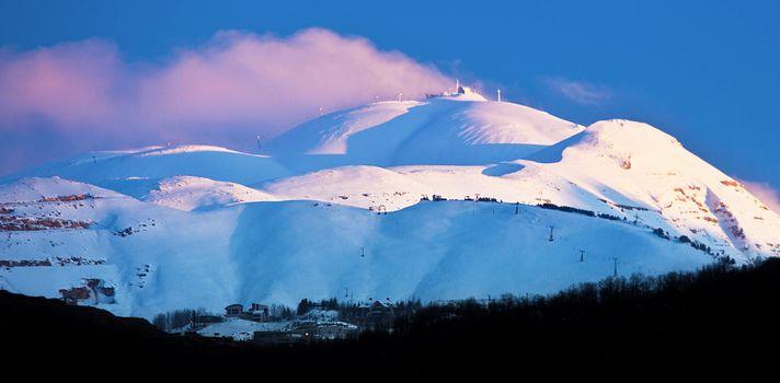 Winter mountains snowy landscape