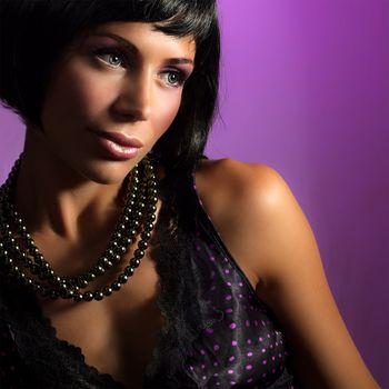 Attractive brunet girl