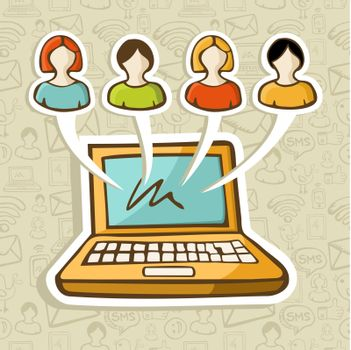 Social media people online interaction