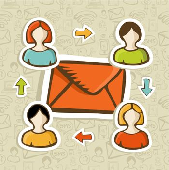 Email marketing campaign concept background