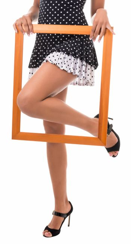 lovely female legs framed framework
