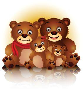 happy bear family in harmony