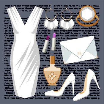 Fashion set with a dress